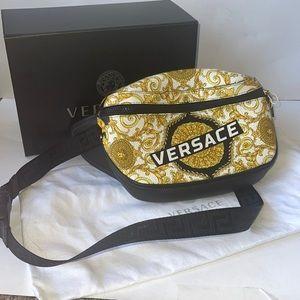 Authentic Versace leather bum belt bag Fanny pack